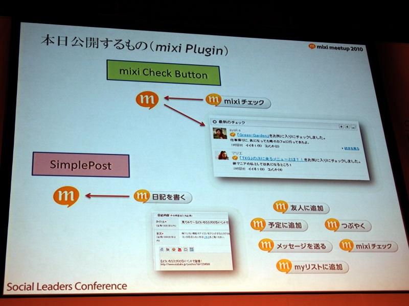 「mixi Check plugin」と「Simple Post」の2つのプラグインを公開