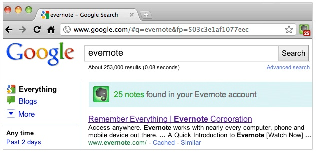 EvernoteのChromeエクステンション