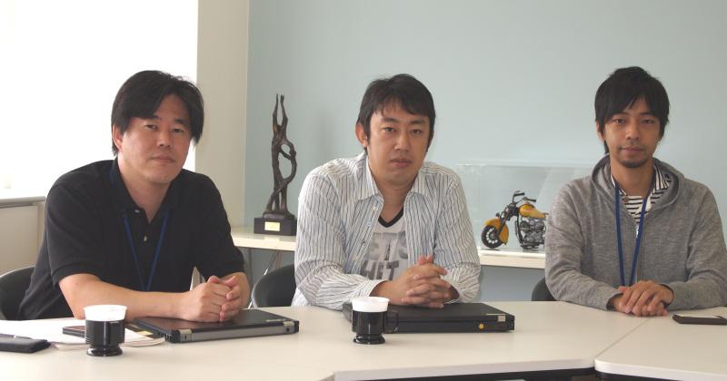 ドワンゴ ニコニコ事業本部の(左から)亀松太郎氏、中野真氏、坂本将樹氏