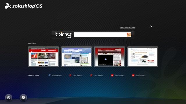 Splashtop OSの画面