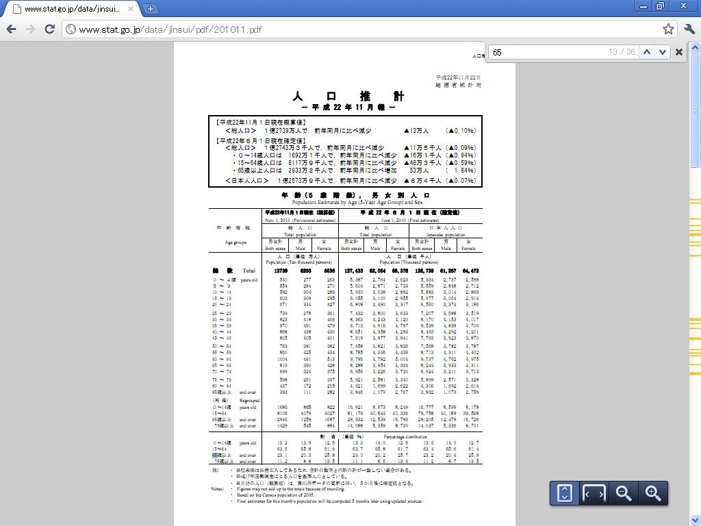 「Google Chrome 8」でのPDFファイル表示例