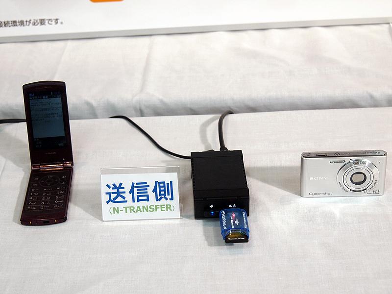 送信側は、パソコンを経由しなくてもN-TRANSFERにUSBアダプタを介してSDカードなどを装着するだけでカードに記録した写真の送信が可能