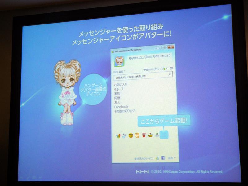 ハンゲームとWindows Live Messengerの連携