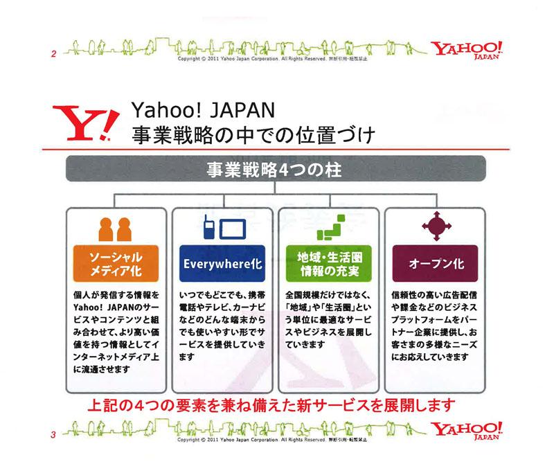 「Yahoo!ロコ」事業戦略4つの柱