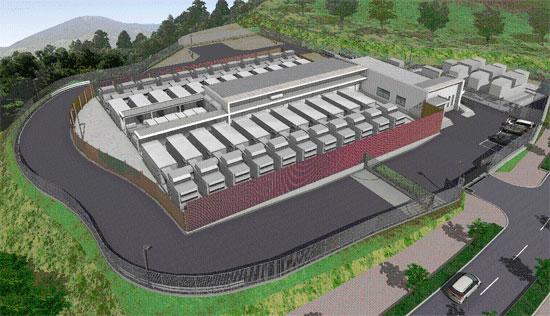 松江データセンターパークのイメージ図(着手当時の発表資料より)