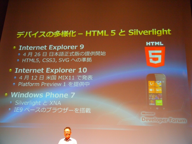 IE9/10、Windows PhoneでHTML5など標準技術への対応を進める