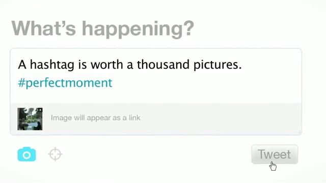 ツイートとともに写真の投稿が可能になる(デモ動画より)
