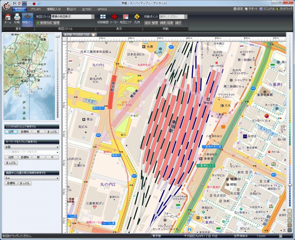 東京駅周辺の詳細地図