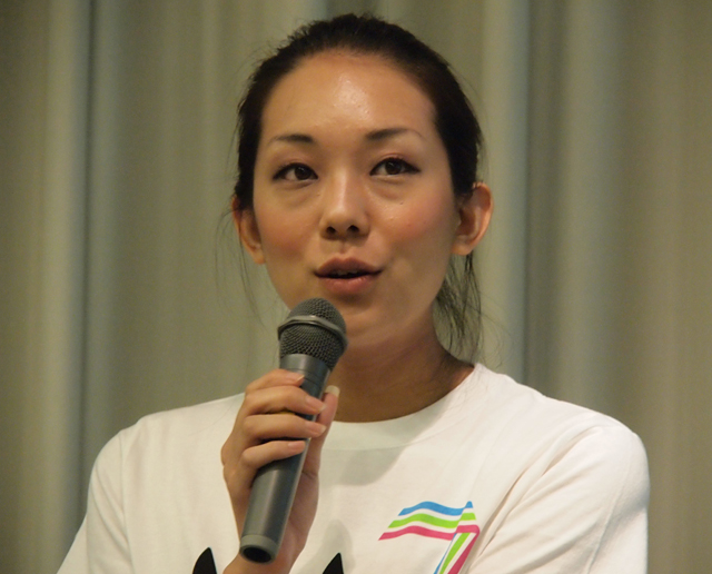 MUP48代表の田中里実氏。現在23名のメンバーは48名まで増やす予定だという