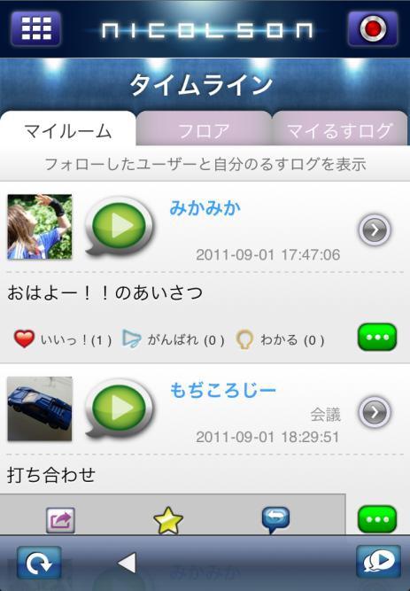 るすログ画面