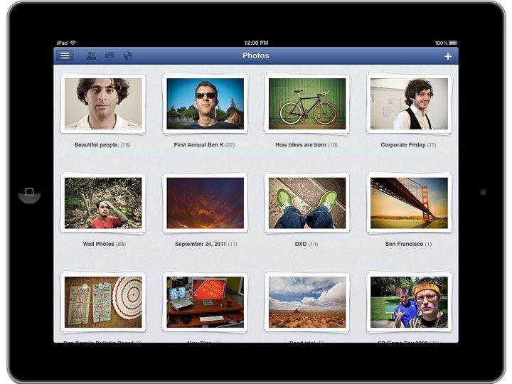Facebook for iPad(Facebook公式ブログより画像転載)