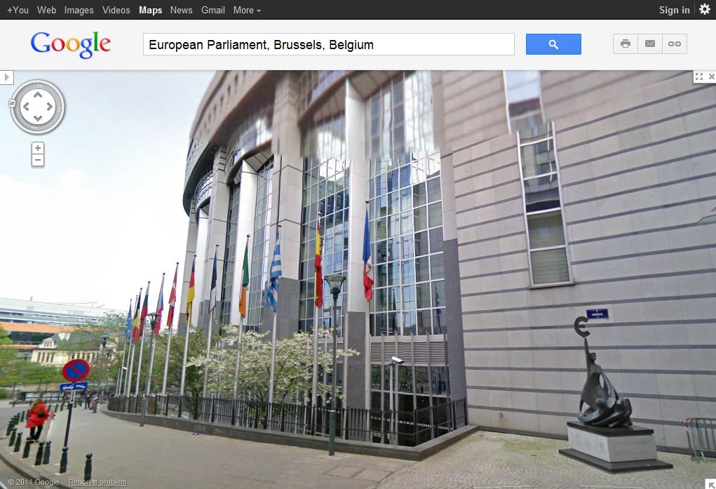 ブリュッセルにある欧州議会