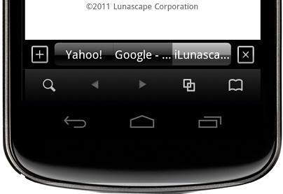 メニューやタブが画面下部に表示されるため、片手操作がしやすい