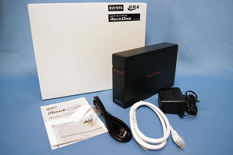 挑戦者ブランドで発売された自作NASキット「RockDisk CL2-004L」