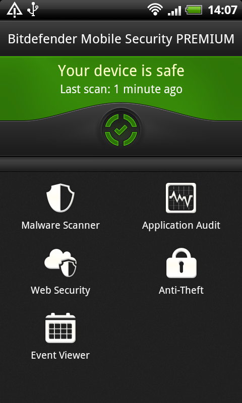 (画像は英語版「Bitdefender Mobile Security」のもの)