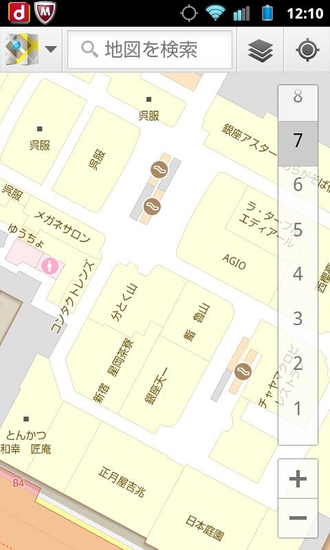 6)伊勢丹 新宿店         <br>1Fに入っても位置を正確に示さず、新宿駅を指し示したまま動かない。3Fに行ったらようやく伊勢丹を指し示し、4Fでフロア数が正確になる。ときどき挙動がおかしく、自分の位置を指し示すポイントが頻繁に外に飛び出る。B1Fでは正確に出ることもあるが、やはり頻繁に位置が飛ぶ。飛ぶ位置は九段下や曙橋など