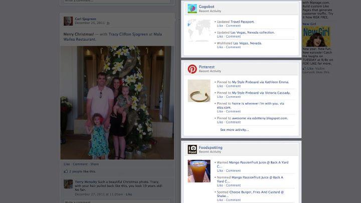 アプリでの活動がFacebookのタイムラインに反映される