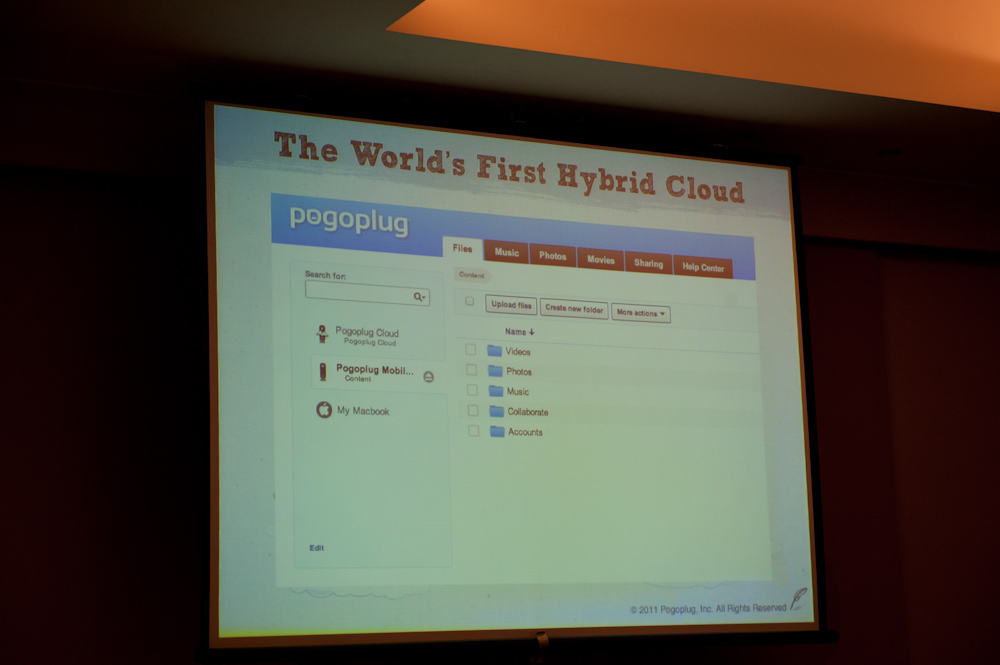 「Pogoplug Cloud」を利用しているとUIの左ペインに名前が追加され、シームレスにアクセスできる
