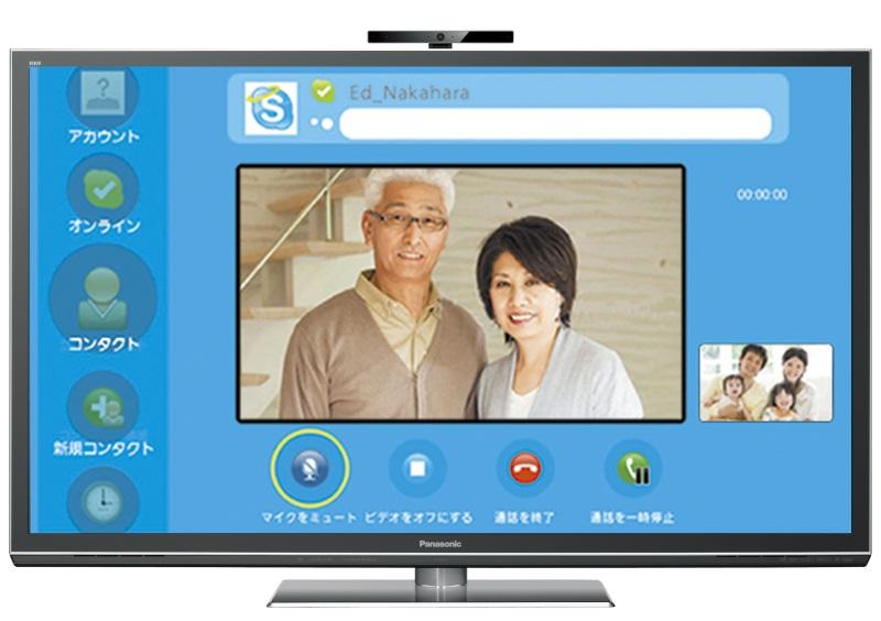 Skypeによるビデオ電話に対応する