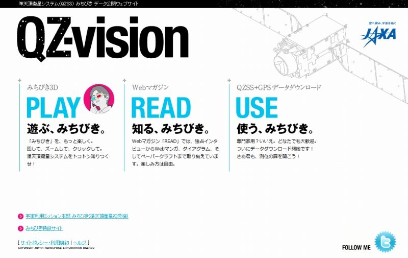 JAXA「QZ-vision」のサイト
