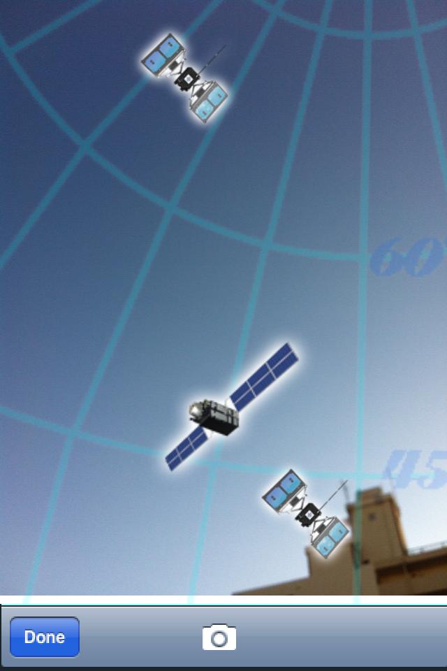 「QZ-Finder」には、カメラで写した映像に衛星の位置をARで表示する機能も搭載