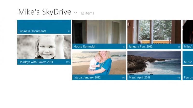 SkyDriveのMetroスタイルアプリ