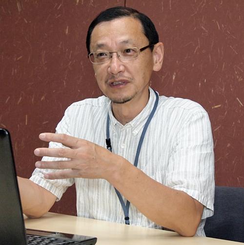 JVR代表理事 北村 彰氏。株式会社サンブリッジをはじめ数社の役員を務める傍ら、JVRの代表理事に就任、ベンチャー企業に関する資本政策情報のデータベース化を推進する