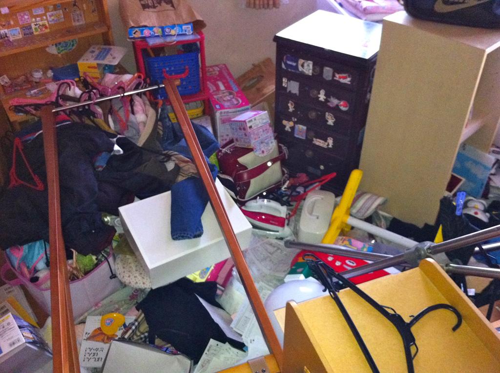 震災直後の佐々木氏の自宅