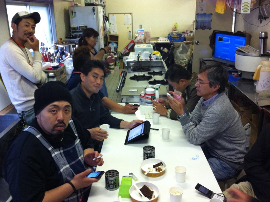 避難所での即席スマートフォン講座