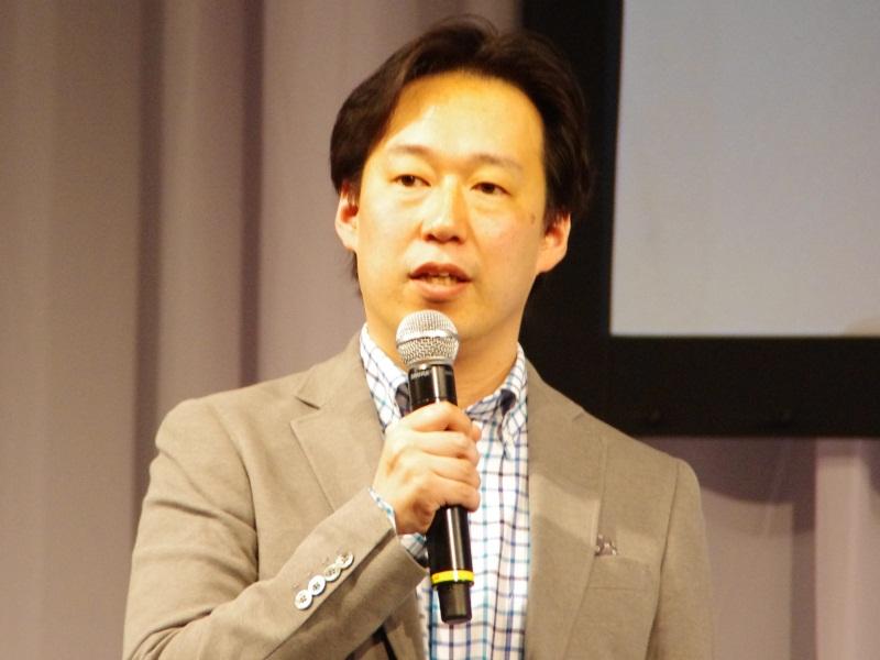 DeNAの守安功代表取締役社長(写真は、同社が4月25日に開催したデベロッパー向けカンファレンスの時のもの)