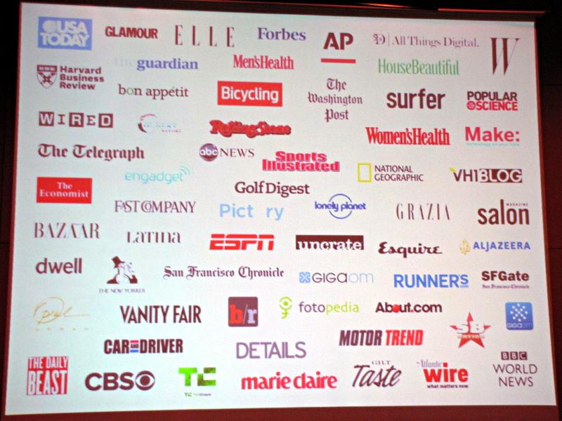 世界で提携している出版社や新聞社、ブログなどのパブリッシャー