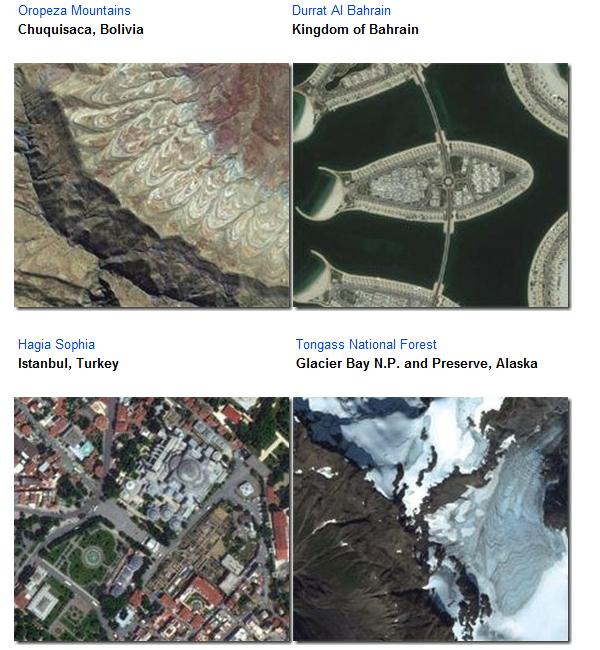 追加された衛星写真の例(Bing Maps Blogより)