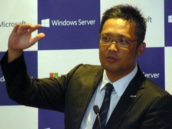 日本マイクロソフト 業務執行役員 サーバープラットフォームビジネス本部長の梅田成二氏