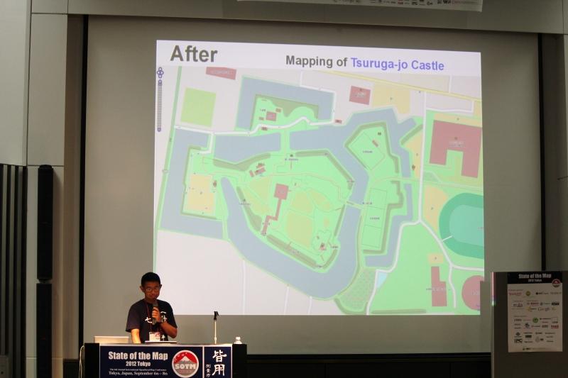 「Best of OSM」に選ばれた鶴ヶ城の地図