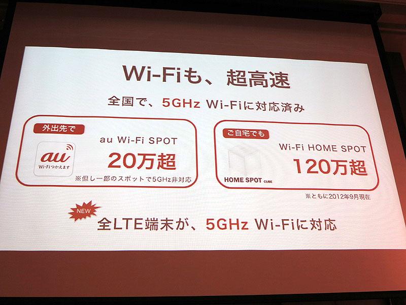 5GHz帯対応のWi-Fiスポットが順調に増加