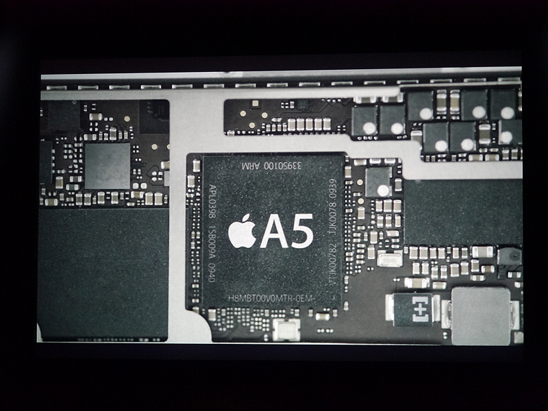 iPad miniの中身の様子も映像で流された