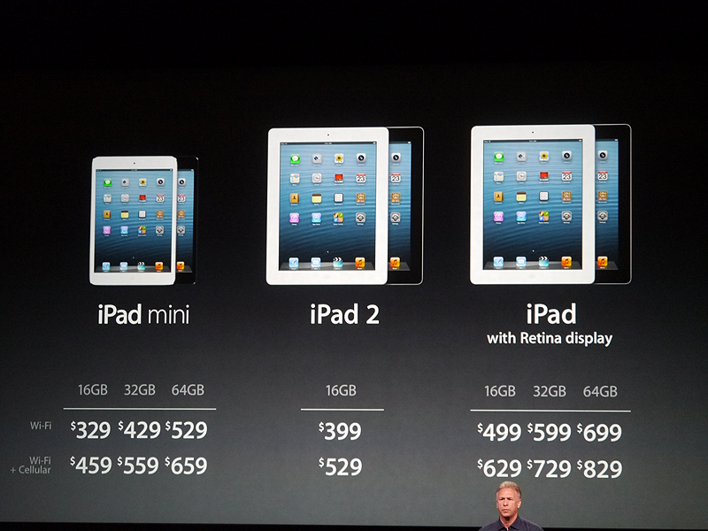 3つのiPadを品揃えすることになる