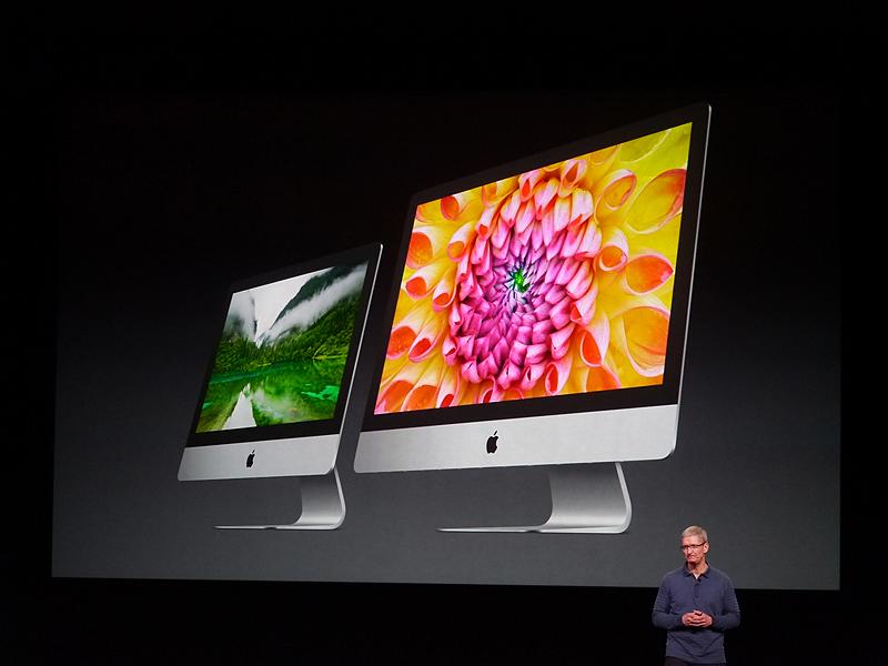 約2週間前に発売になった新たなiPodや、今日発表した新たなiMacなどにも改めて言及した