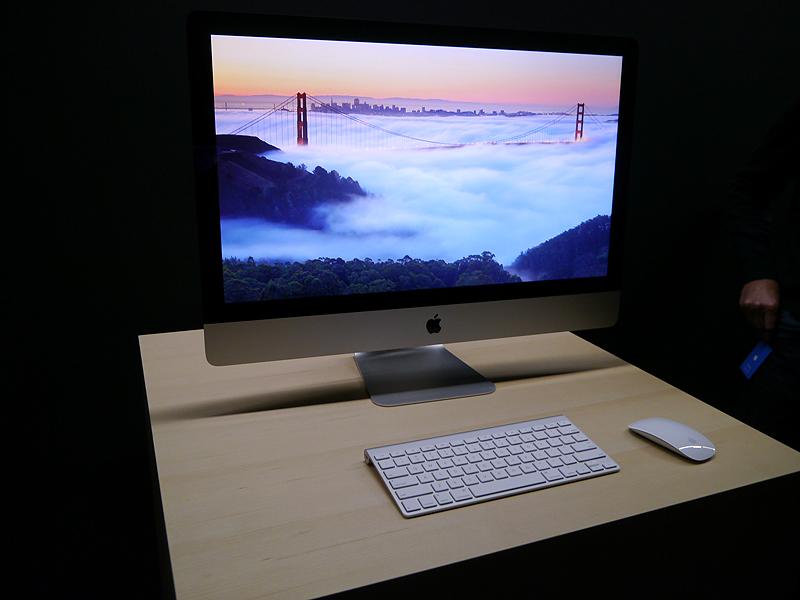 新たなiMacの27型ディスプレイモデル