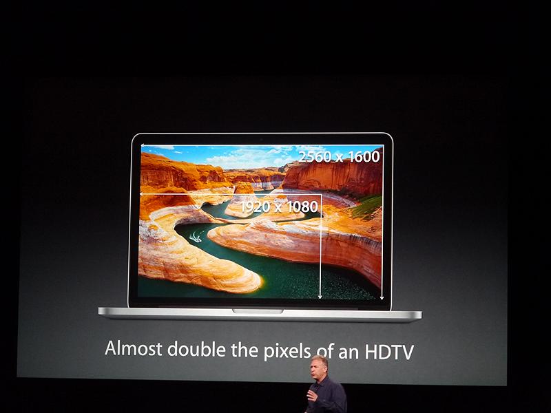 ほとんどのHDテレビの2倍の解像度を持つとした
