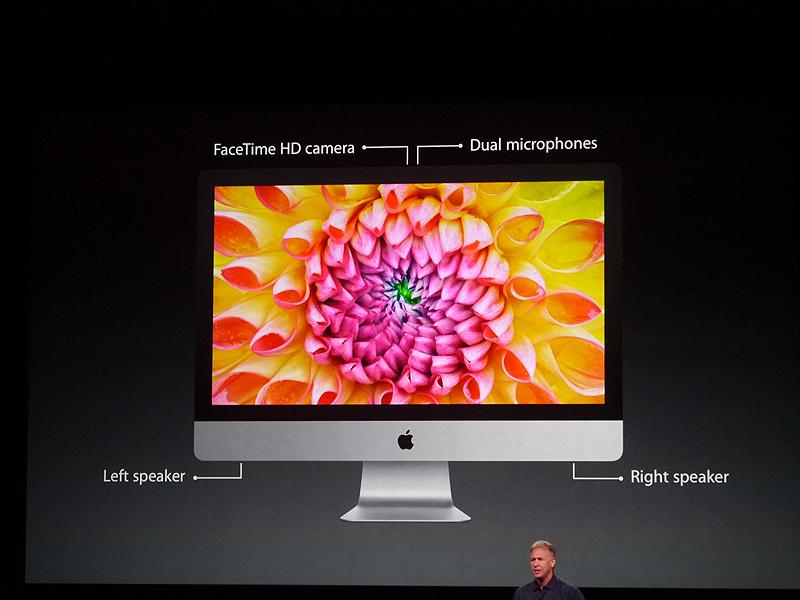 新たなiMacの各種インターフェース。薄くなっても妥協はしていないという