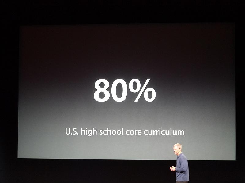 高校の教科書では80%がibooksに対応しているという