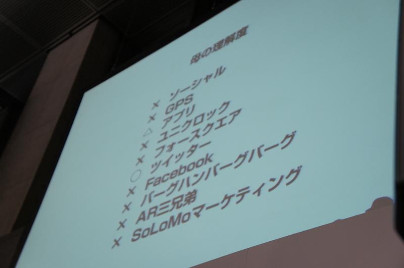 山根氏の母親による、デジタルマーケティング業界における10のトレンドキーワードの認知度チェックの結果