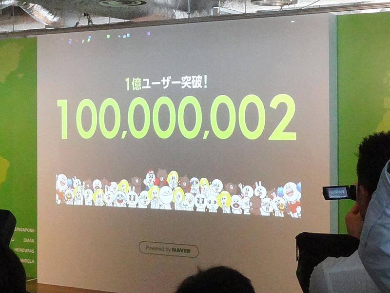 1億人突破の瞬間