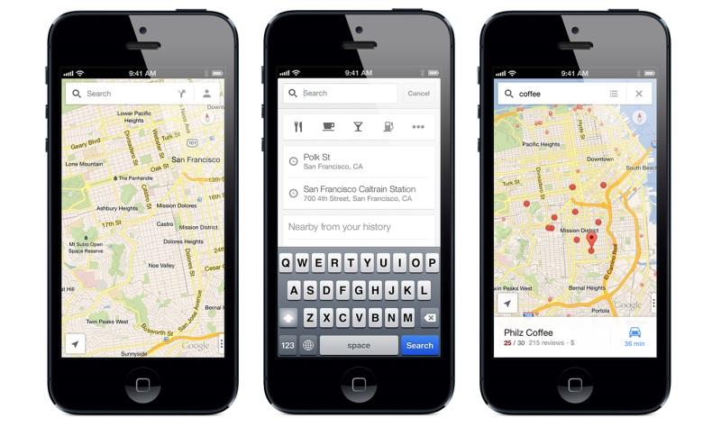 iPhone向けGoogle マップ