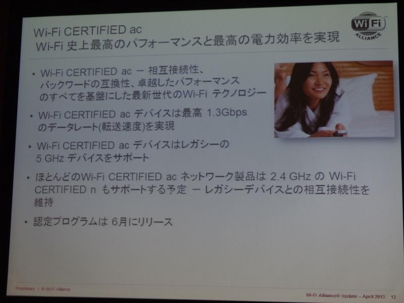 Wi-Fi CERTIFIED acは6月リリース予定