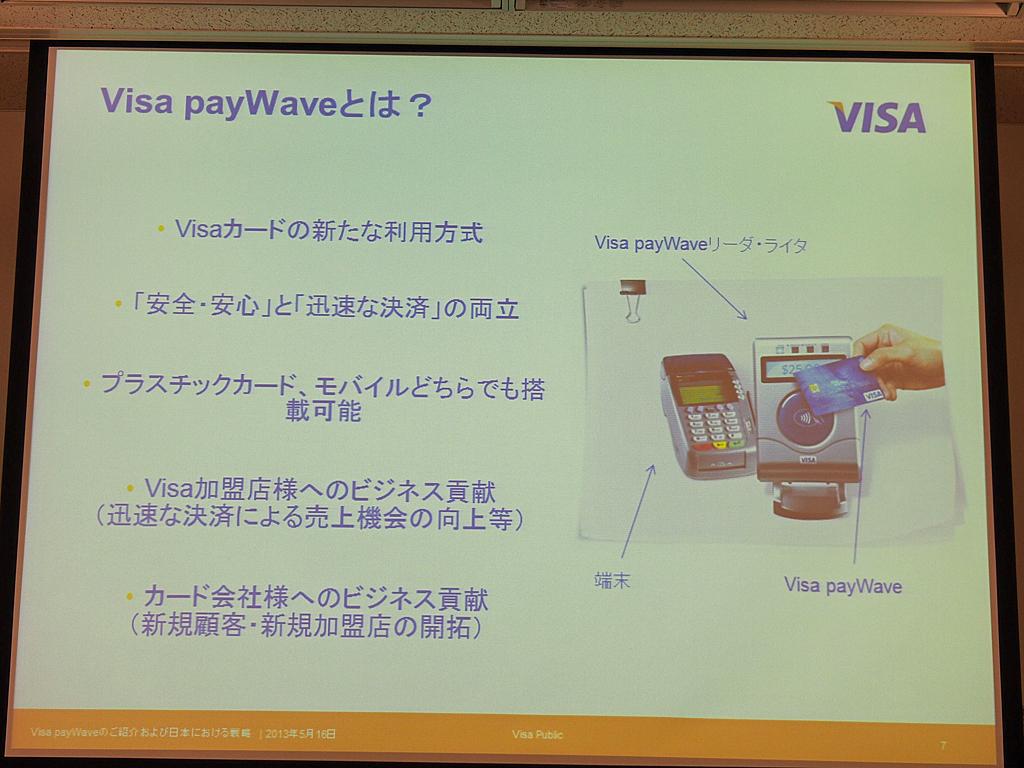 Visa payWaveの特徴