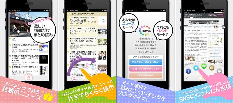 アプリ「Dialnews」の利用イメージ