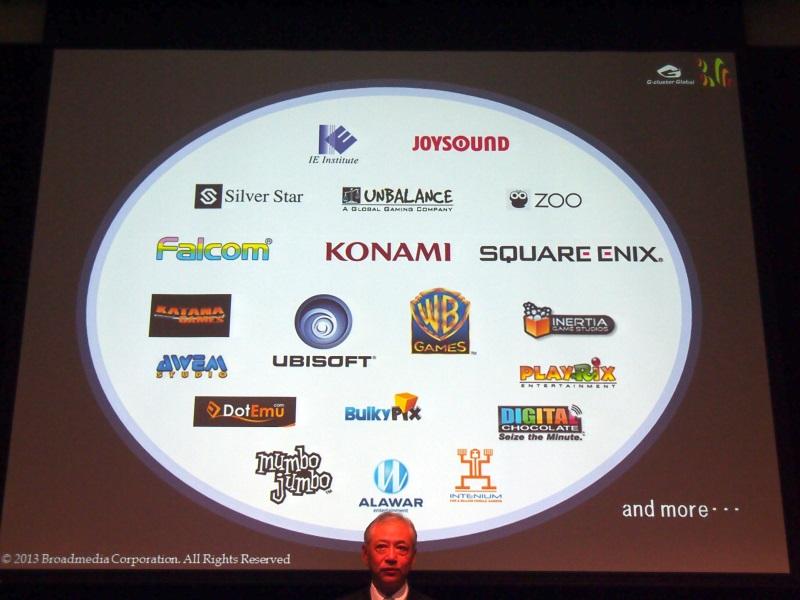 コナミやスクウェア・エニックスなどがゲームの提供を予定