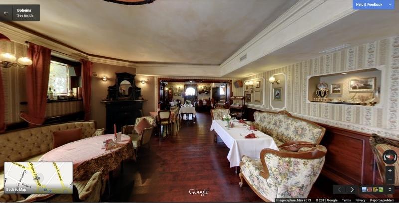 ポーランド・シュチェチンのレストラン「Bohema」(Google Maps公式ブログより画像転載)